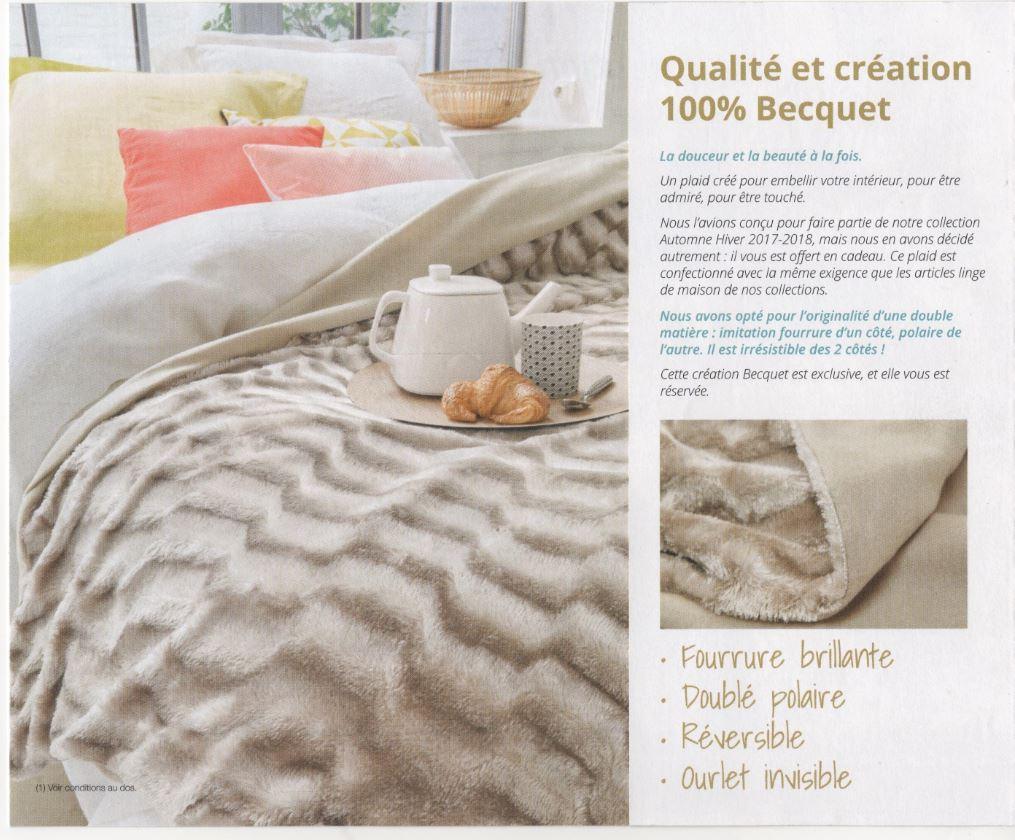 code promo plaid zibelline fdp 0 sur becquet. Black Bedroom Furniture Sets. Home Design Ideas