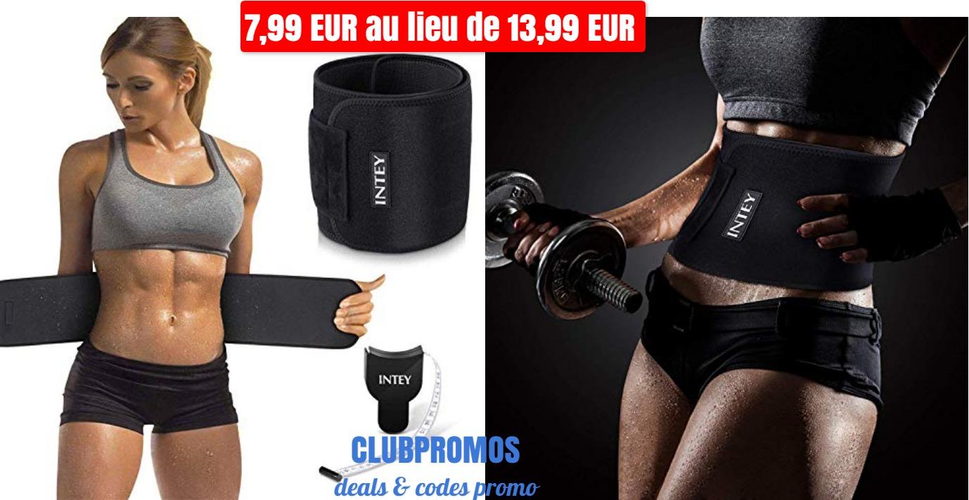 code promo - Ceinture abdominale INTEY   ruban à 7 99 EUR au lieu de 13 99 EUR sur Amazon.jpg