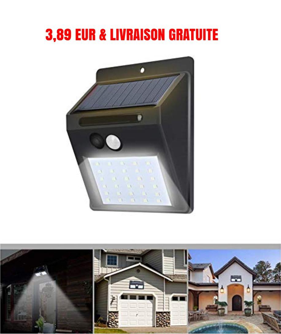 deal - Lampe solaire LED d extérieur IP65 à 3 89 EUR   LIVRAISON GRATUITE sur Amazon.jpg