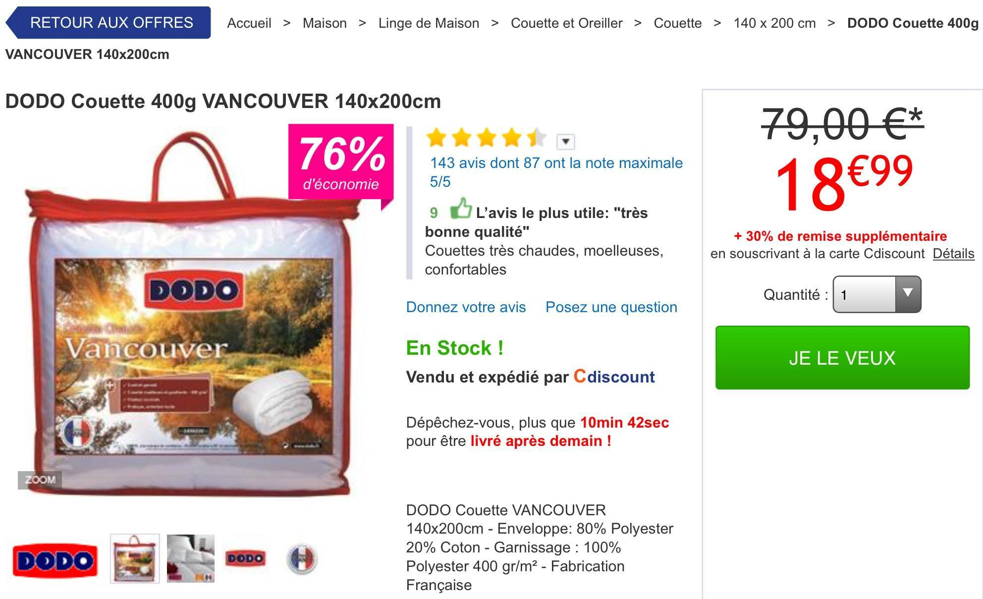 Couette Vancouver Dodo Wwwbreizh Poncagefr