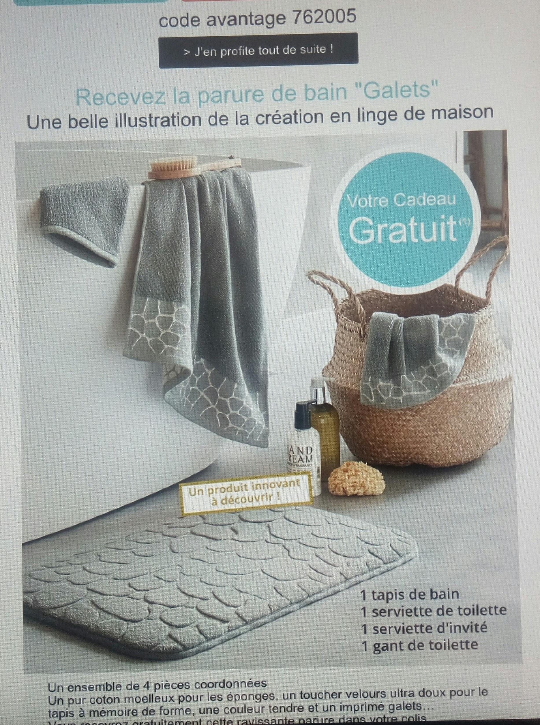 code promo becquet parure de bain en cadeau. Black Bedroom Furniture Sets. Home Design Ideas