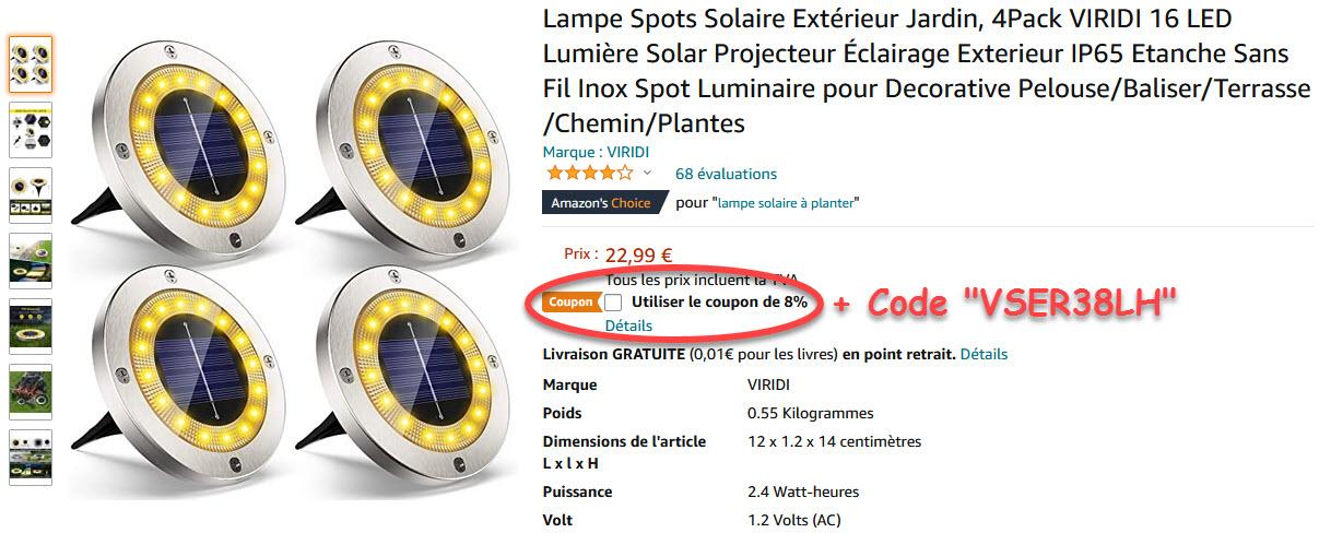Lampe Spots Solaire Extérieur Jardin 4Pack VIRIDI.jpg