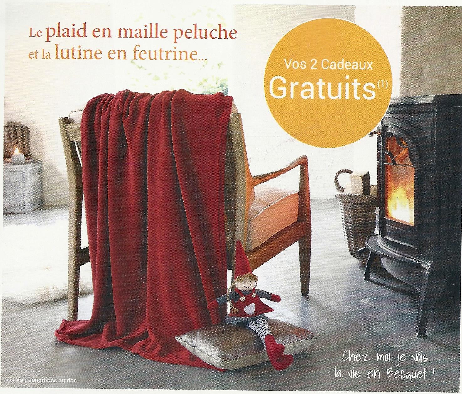 Cadeau Plaid Maille Lutine