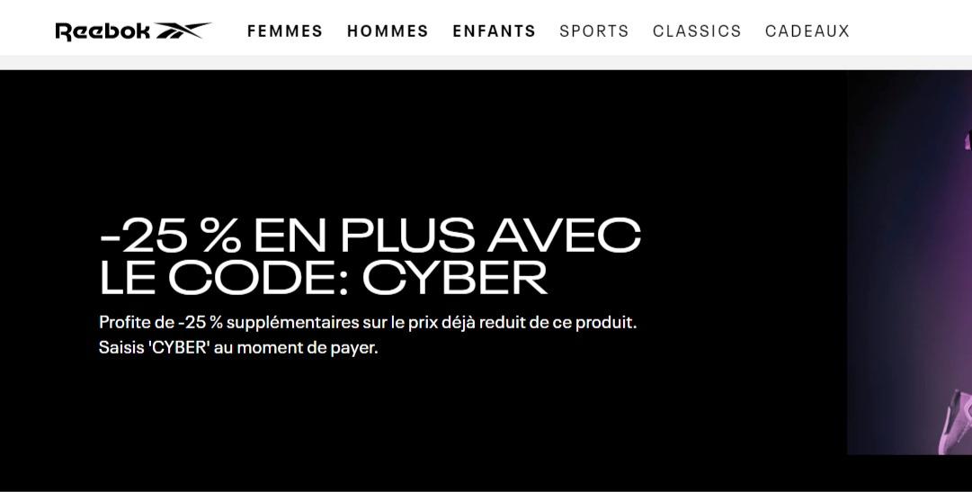 Offres Cyber 2019 pour homme   Jusqu à -65    Reebok FR.jpg