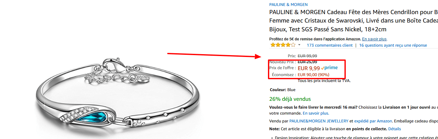 bracelet femme pauline et morgen