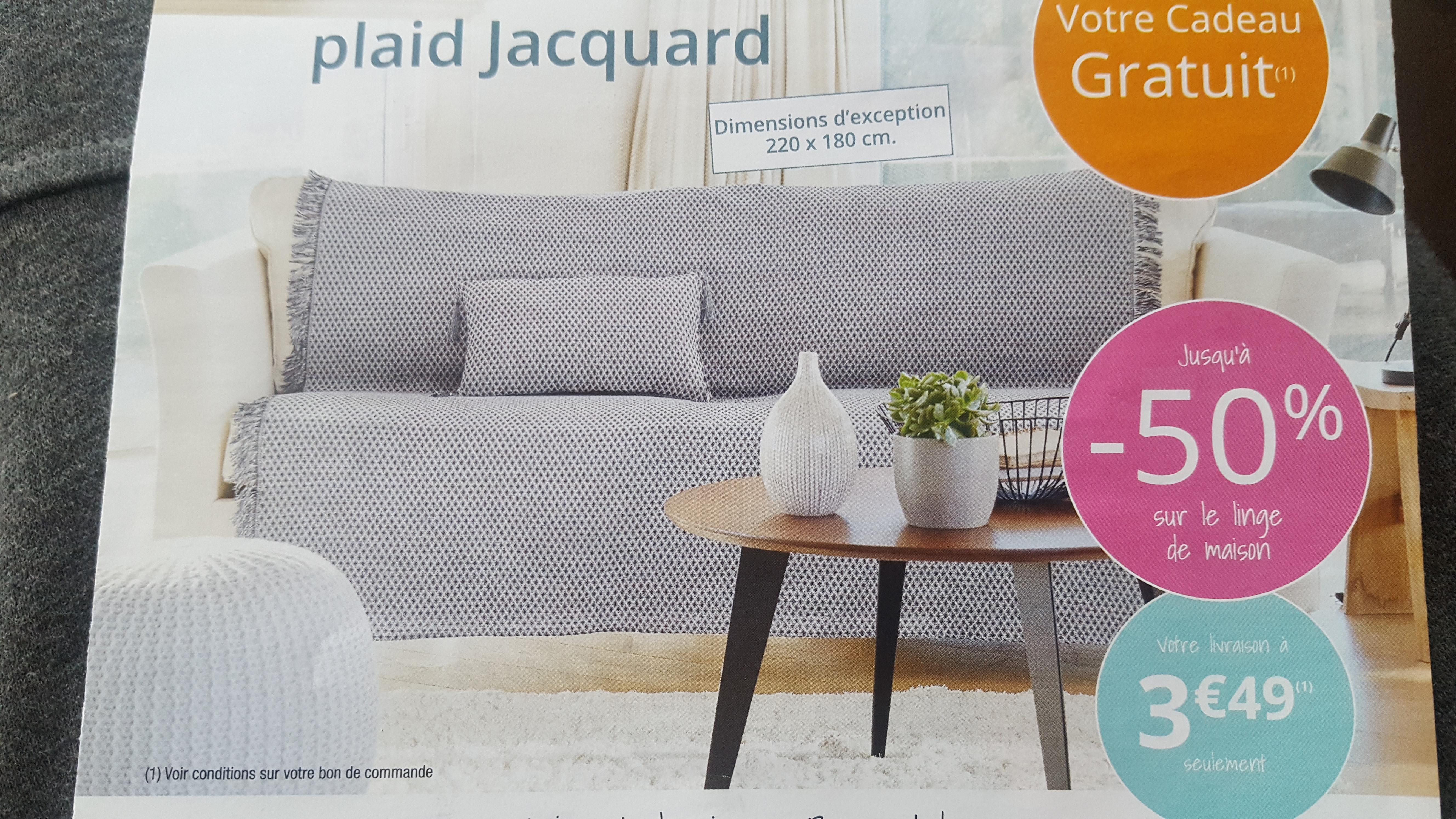 code promo becquet grand plaid jacquard et housse coussin offerts. Black Bedroom Furniture Sets. Home Design Ideas
