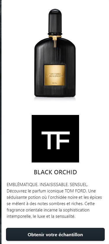 Gratuit Tom Ford Black Echantillon Orchid De Parfum 7gYbf6y