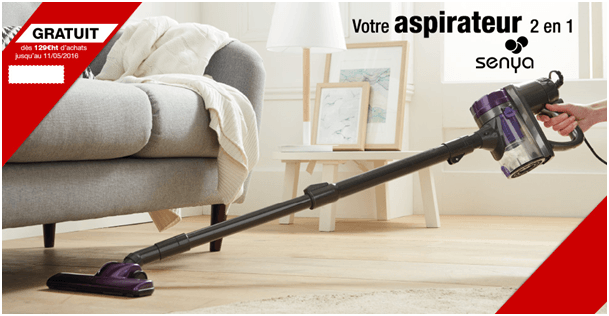 aspirateur 2 en 1 jusqu au 11 mai. Black Bedroom Furniture Sets. Home Design Ideas