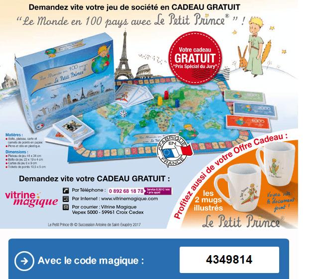 Code Promo Boite De Jeu Le Petit Prince En Cadeau Sur Vitrine Magique