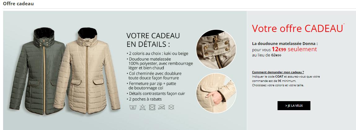 hot-vente dernier bons plans sur la mode Conception innovante code promo - Offre sur doudoune camel ou kaki 12€99 sur les ...