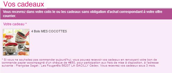Code promo fran oise saget 4 bols mes cocottes en cadeau fdp 0 - Code promo 3 suisses frais de port gratuit ...