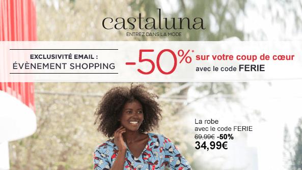 Code promo castaluna la redoute 50 sur article prefere - Code reduction la redoute 50 ...