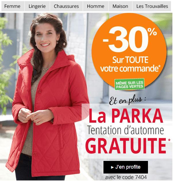 Code Promo Parka Rouge Gratuite 30 Sur La Commande Daxon