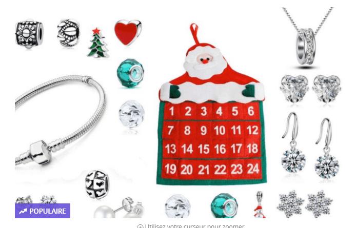 abb025e9b64bba deal - Calendrier de l Avent avec bijoux cristaux Swarovski et ...