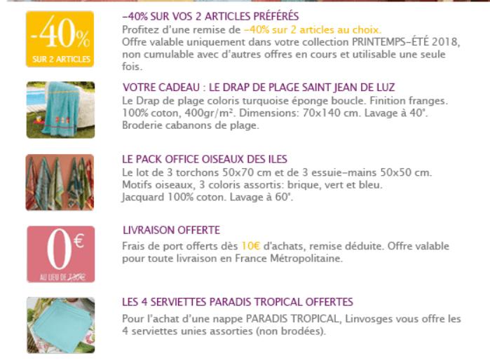 Code promo drap de plage saint jean de luz en cadeau - Code promo son video frais de port gratuit ...
