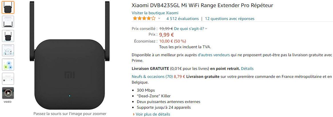 Xiaomi DVB4235GL Mi WiFi Range Extender Pro Répéteur.9.99euros.Amazon.jpg