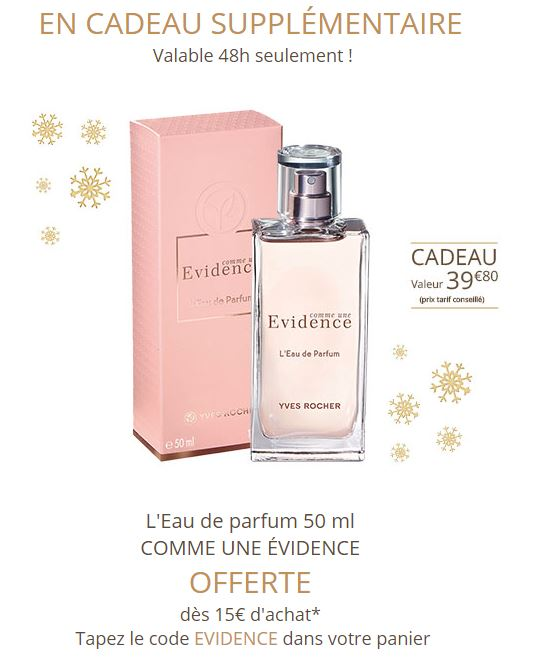 Code Promo Kdo Parfum Comme Une évidence Yves Rocher Voir Conditions